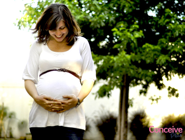pregnante belly Conceive Plus