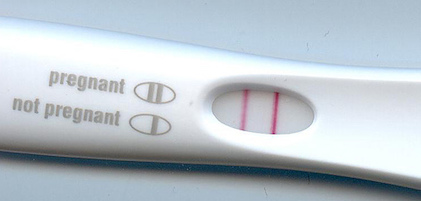 Positive pregnancy test result