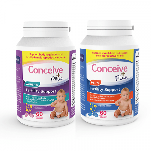 Fertility support prenatal supplements bundle for men and women by Conceive Plus