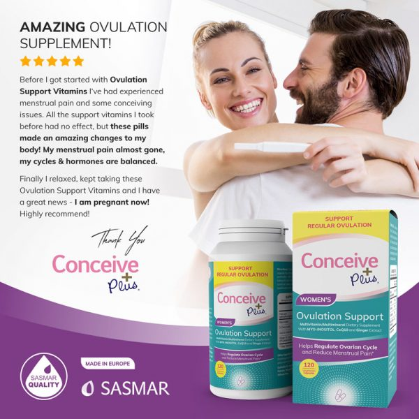 Conceive Plus review Ovulation Support for PCOS dietary supplement pills from Amazon