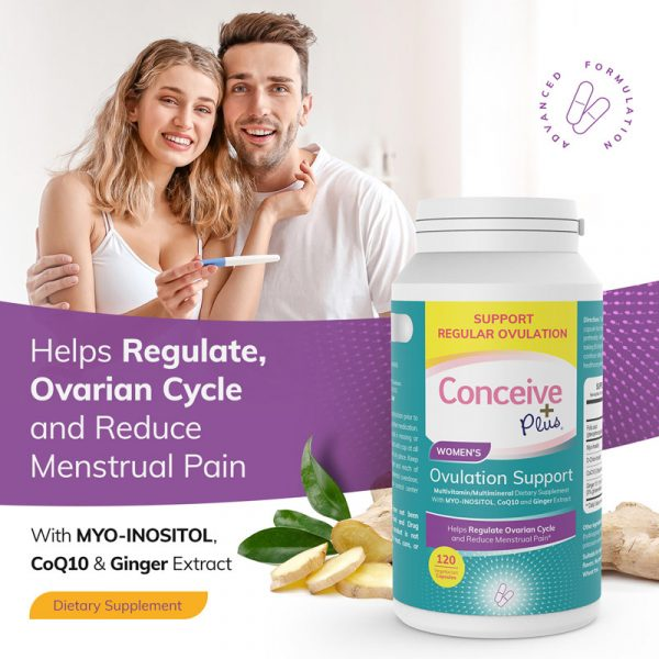 myo-inositol help regulate ovarian cycle TTC pills by Conceive Plus