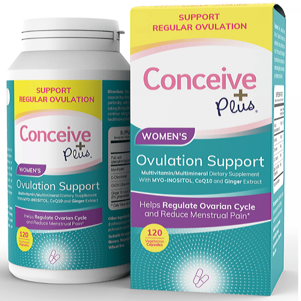 Conceive Plus 120 Ovulation supplement tablets for Polycystic ovary syndrome